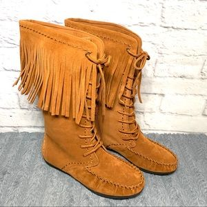 NEW Womens Rampage Cadencia fringe boot